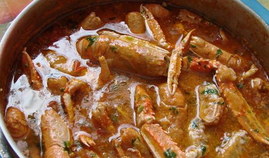 Buzara od škampa (račića)