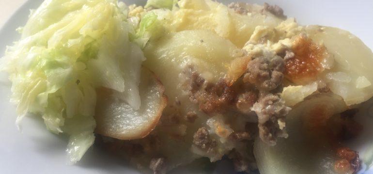 Musaka sa mlevenim mesom i krompirom